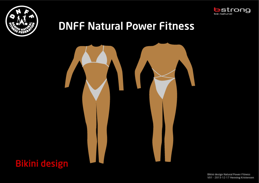DNFF bikini design Natural Power Fitness klassen